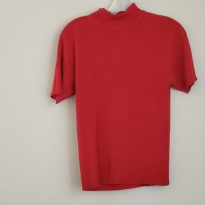 Studio Works Short Sleeve Red Sweater - Size L